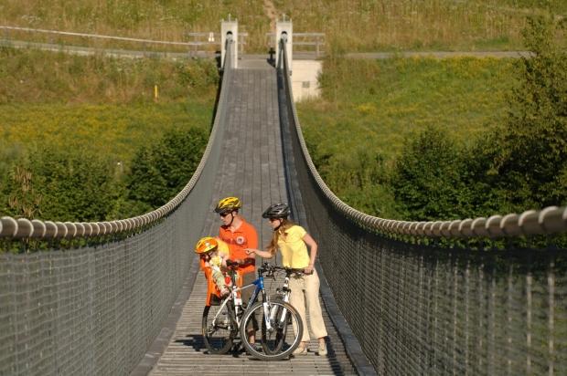 Hängebrücke Santa Lucia am Drauradweg