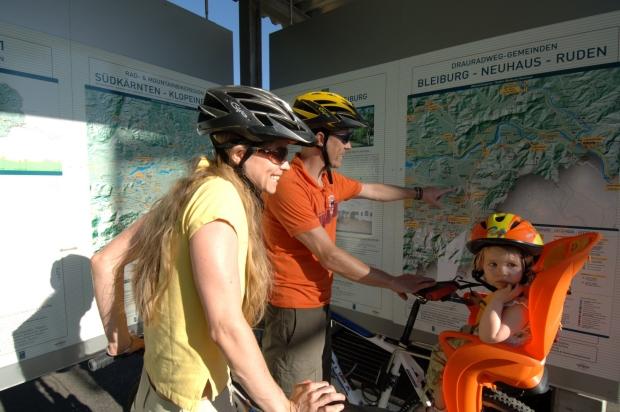 Radfahrer in Unterkärnten