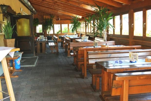 Überdachte Terrasse Gasthof Hüttenwirt